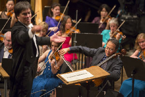 Alan Gilbert, New York Philharmonic Music Director and Yo-Yo Ma, cello